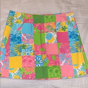 white label Lilly Pulitzer reversible skirt